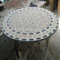 ronda de mesa de mosaico