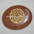 Pierres- précieux pierre chakra reiki gravé