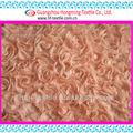 Del corte del laser que arrolla rosa bordado de la cinta de tela para vestido de boda nupcial- naranja