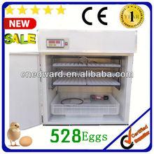 Venta caliente de nuevo gran ew-8 completo- automática incubadoras de huevos para la cría de huevos para 528 huevos