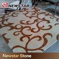 natural de piedra de agua patrón de chorro de piso de piedra
