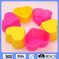 la forma del corazón de silicona torta de la taza del molde