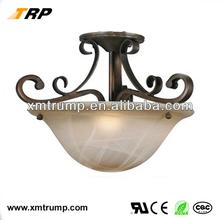 bronce europeo de hierro del techo para el hogar iluminación de la decoración