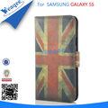 nuevo estilo de cartera de grano de cristal de pie tapa de cuero cubierta de la caja con ranura de la tarjeta para el samsung ga