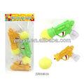 juguetes baratos para la promoción de pequeñas pistola de juguetes pelota de esponja de la pistola