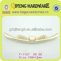Qifeng znic aleación marco de bolsa, marco de metal piezas para los bolsos f-1157