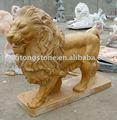 Escultura occidental del león del mármol del estilo