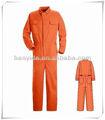 T/c seguro barato ropa de color naranja de construcción/ropa de trabajo de la industria en general