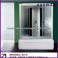 alta calidad completa película azul ducha cabina ducha masaje modelo sala/pequeño baño bañera 813