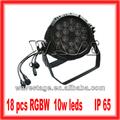 Hot wlp-01-2 18 pcs 4 em 1 10w rgbw led palco ao ar livre luzes de som