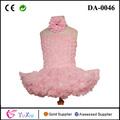 venta caliente de color rosa púrpura flor vestido de niño con color de rosa para el cabrito