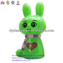 los niños personalizados conejo de plástico caja de dinero