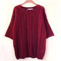 moda rojo manga la mitad de las mujeres suéter suéter de fantasía