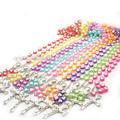 Caliente venta de plástico corazón cuentas del rosario católico. Jbh201401-195