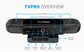 Tvpro 4.4 android tv caja de la cámara