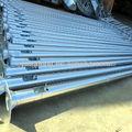 4m 5m 6m 8m 10m 12m caliente galvanizado poste de luz, poste de acero para las luces de la calle