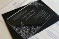 acrílico personalizado de invitación de la boda