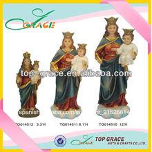 católica de resina religiosas estatua al por mayor