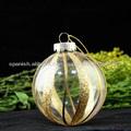 adornos de bolas de cristal pintado a mano agradecido decoración navideña