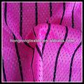 Rayas negro 100% potester tela de malla de tela para