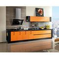 oppein laminado de color naranja de la cocina del gabinete