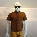 gran venta de stock de ajuste fino de algodón hombre sublimación camiseta en blanco