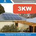 sistema generador de energía solar con el inversor de onda sinusoidal pura 3kw y alta eficiencia módulos solares