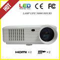 Hdmi, vga, s- video, av, usb, proyector de arriba de la lente de fresnel películas al aire libre del proyector