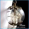 Moda claro vidrio adornos de bolas a granel& decorativos de vidrio transparente bolas& soplado a mano claro bolas de cristal