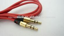 Nuevo y de alta calidad 3.5 av cable macho a macho el uso del coche de audio por cable
