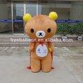 Traje de oso, el carácter lindo traje de dibujos animados