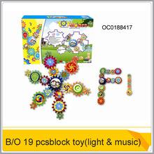 Caliente 19 pcs bloque eléctrico engranaje de juguete con luz de música& oc0188417