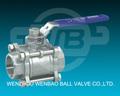 3pc bola de la válvula de toma de soldadura con la cerradura 1000wog( pn64) 3202-m3 din