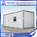 materiales de construcción metálicos prefab contenedores de envío de los hogares