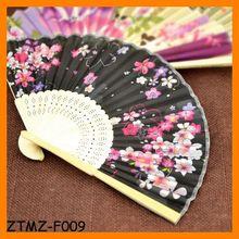 Popular flores de cerezo de bambú plegable Fan Wholesale ZTMZ-F009