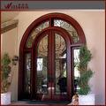 2014 modelos para exterior de madera puerta de hierro decorado de la parrilla de hierro forjado puerta