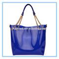 china 2014 azul de moda mujer de la cadena de goma de silicona de playa sola correa bolso bolsos de bandolera