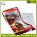 Alibaba proveedor de china 100% alimentos grado de chatarra de plástico impreso rollos de película