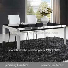 Superior de cristal de metal base de mesa de comedor 819#