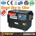genour de alimentación 220v 3kw generador de energía diesel silencioso pequeño para la venta