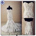 jj3554 de color champán sirena de la boda vestidos de color champán de encaje vintage vestidos de novia