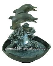 tablero de la mesa de los animales delfines dolhpin escultura de la fuente