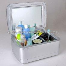 12V y 220v cosméticos mini nevera refrigerador y calentador caja