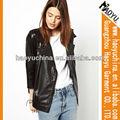 Elegante Simple mujeres PU chaqueta ( hywj436)