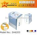 Sh6203 - ultrasionic humectador - caliente y en frío de niebla - ionizador - ajustable de vapor de volumen