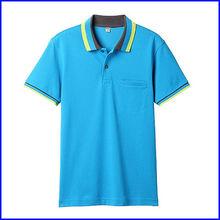 fabricante de ropa en China granel al por mayor de 60% algodón 40% poliéster liso camiseta del polo