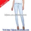 diseño de prendas de vestir stocklot barato la bandera de turquía jean estilo de pantalones de mezclilla dama, skinny jeans