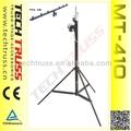 Mt-410 truss torre de elevação, guincho da mão luz truss stand altura 4.1m 80kg carregamento