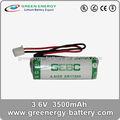 Reproductor de dvd portátil batería externa medidor de capacidad 3.6v er17505 3500 mah