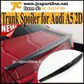 3k real de fibra de carbono a5 spoiler tronco, s5 s*line coche estilo spoiler para a5 audi coupe 2dr